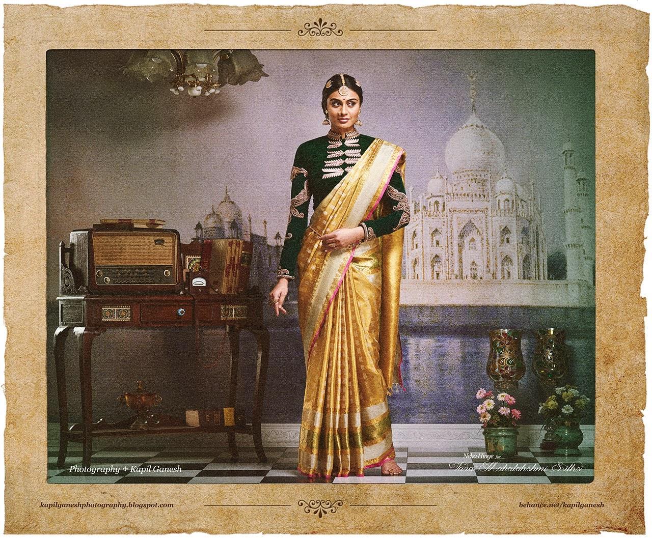 , Neha Hinge Vara Mahalakshmi Silks Ad Shoot