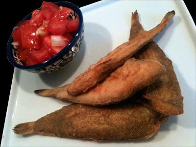 Pescado Frito Espana Cocina con Anib...