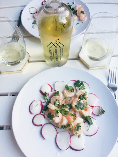 Winc Field Theory Albariño wine and Scallop Crudo with Coconut Milk and Lime recipe | brazenandbrunette.com