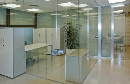 Mamparas de cristal para oficina