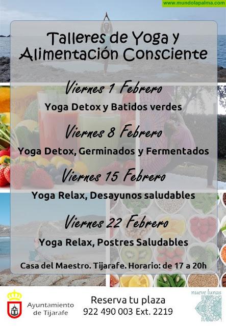 Tijarafe realizará talleres de yoga y alimentación consciente en febrero