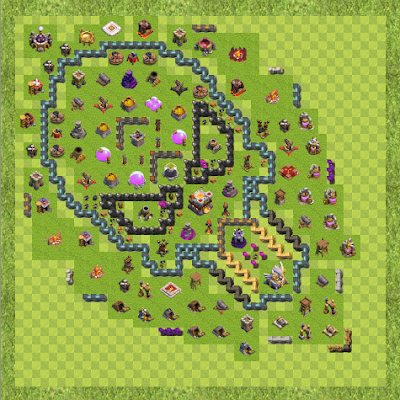 War Base Town Hall Level 11 By MARCH1259! (Ostern TH 11 Layout)