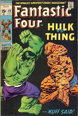 Fantastic Four #112, Hulk vs the Thing