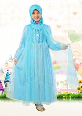contoh baju muslim model terbaru anak perempuan