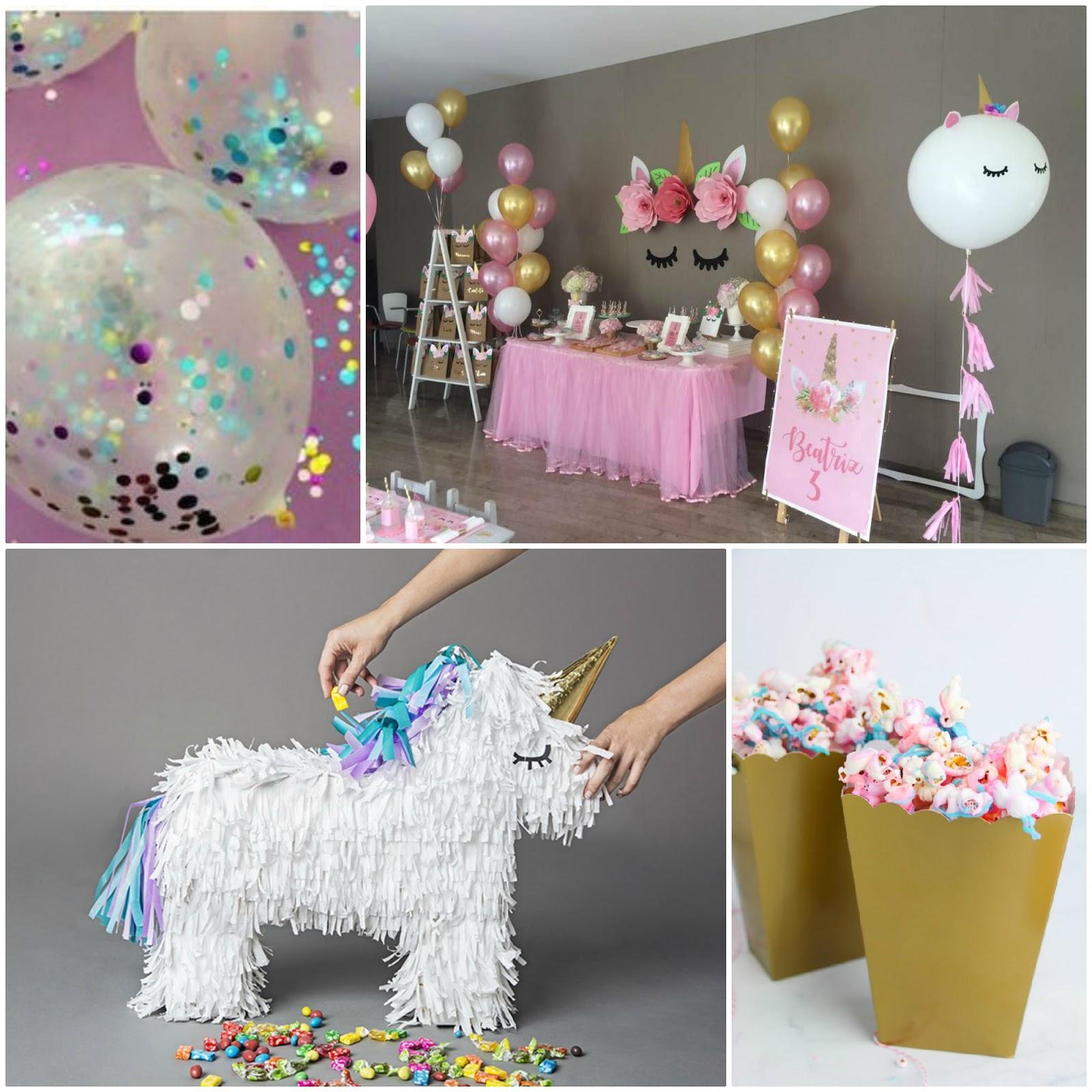 Decorazioni fai da te per festa a tema unicorno for Tavolo unicorno