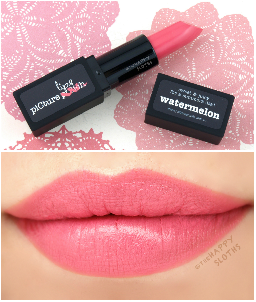 Picture Polish Matte Lipstick in Watermelon: Review and Swatches