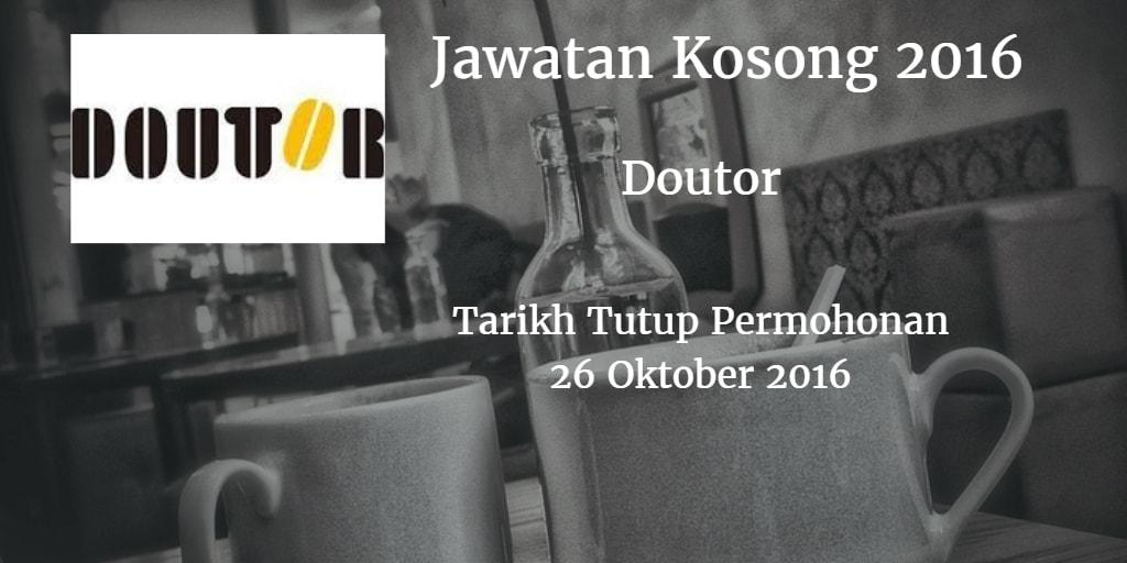Jawatan Kosong Doutor 26 Oktober 2016