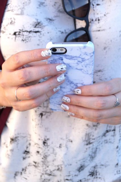 nail art coque marbre