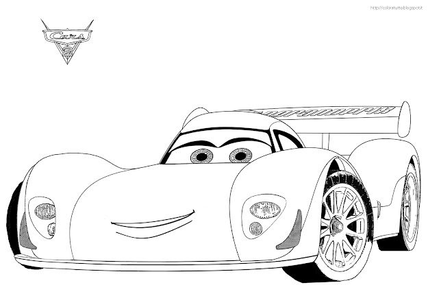 Cars Disegno Colorare   Source Cars Coloring Book Disney