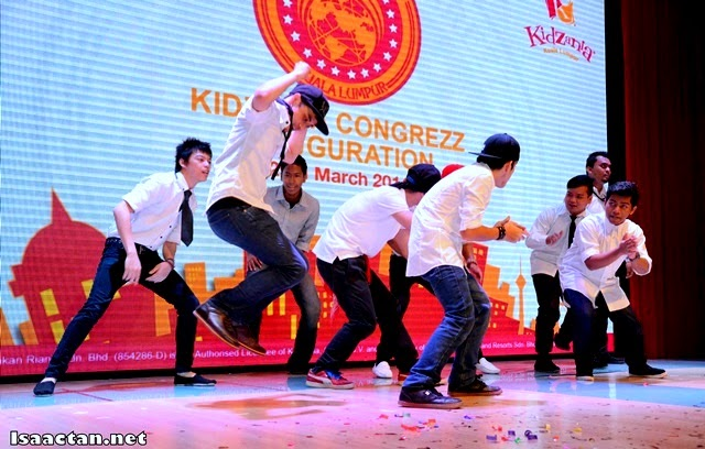 A short 'war cry' performance to mark the end of the KidZania Kuala Lumpur CongreZZ Inauguration event
