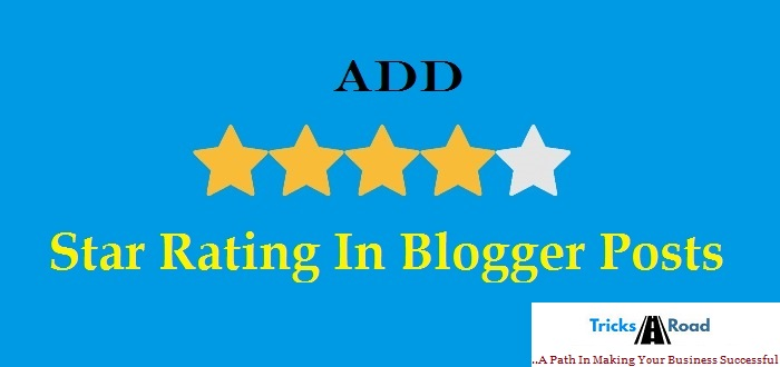 add star rating in blogger post