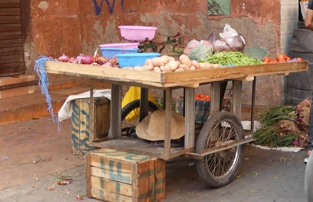 Souk in Marrakesch - Gemüse