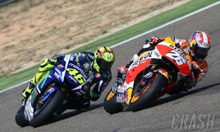Rossi Dituduh Tidak Sportif di MotoGP Aragon oleh Dai Pedrosa