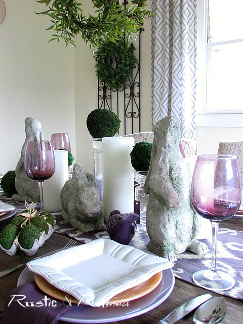 Tablescape perfect for entertaining for Easter or any other dining occasion