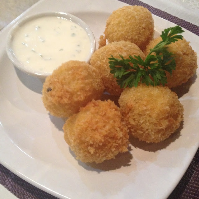 Baked potato balls at Purple Craves Cafe