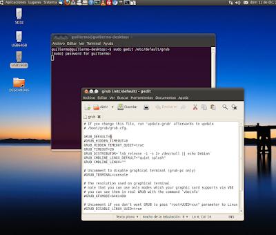 Cambiar el orden de arranque en sistemas duales con Ubuntu