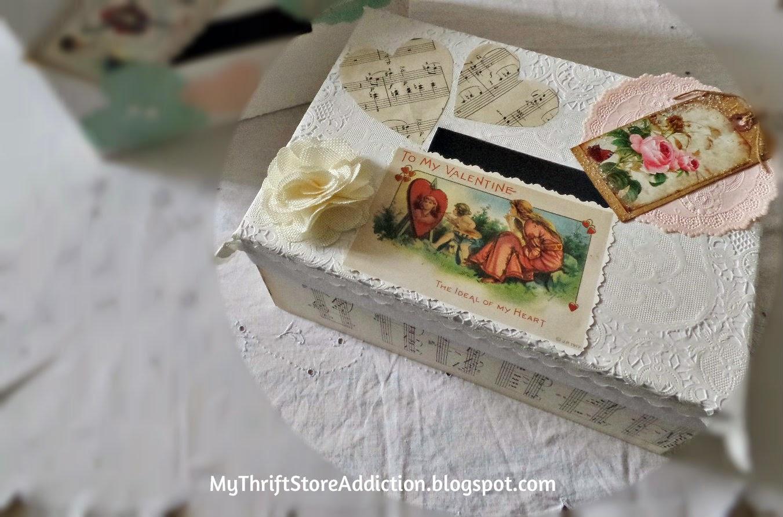 Vintage valentine box
