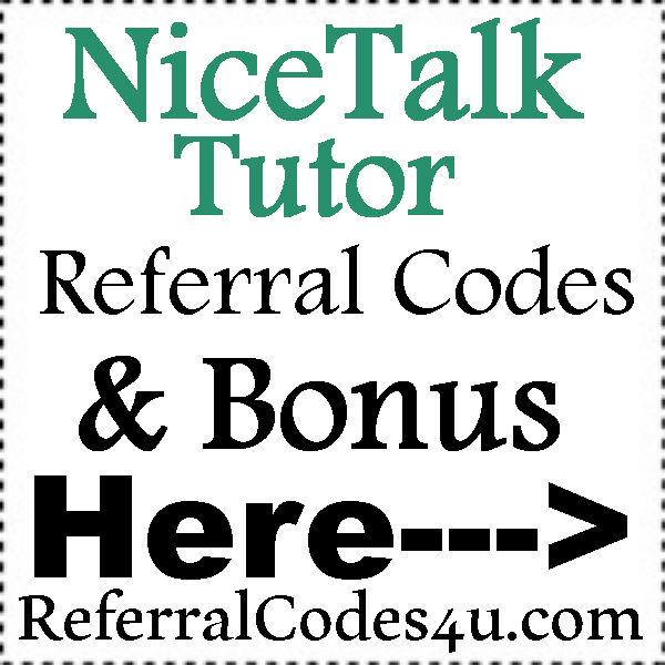 NiceTalk Tutor App Referral Codes 2016-2021, NiceTalk Tutor App Bonus, NiceTalk Tutor App Reviews
