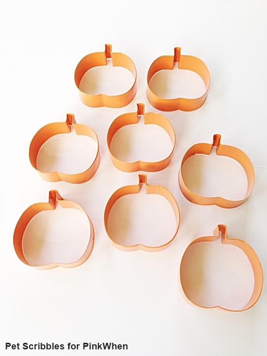 Pumpkin cookie cutters from Michaels - perfect for a Fall garland!