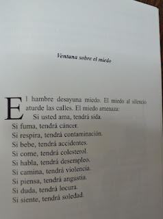 Escrito de Eduardo Galeano del libro las palabras andantes