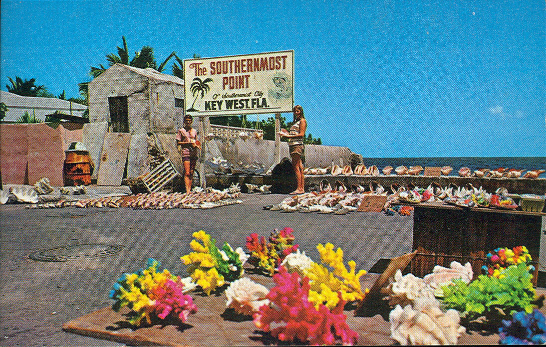 Vintage Travel Postcards Florida Keys