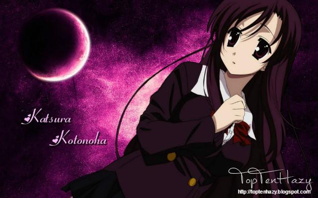 Kotonoha Katsura (School days) 10 yandere nổi tiếng trong anime