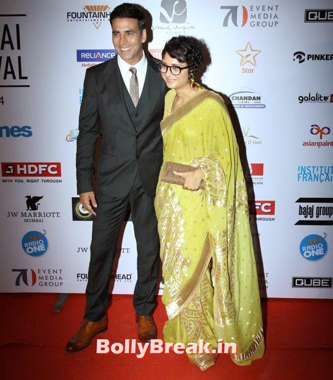 Akshay Kumar, Kiran Rao, Mumbai Film Festival 2014 Photos