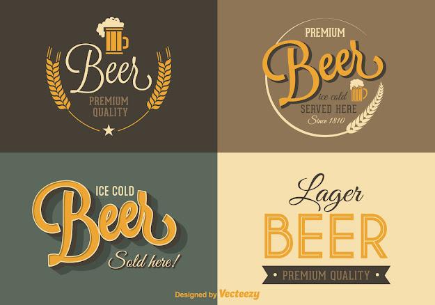 Free Retro Beer Vector Labels