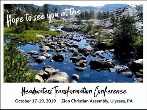 10-17/18/19 Headwaters Transformation Conference, Ulysses, PA
