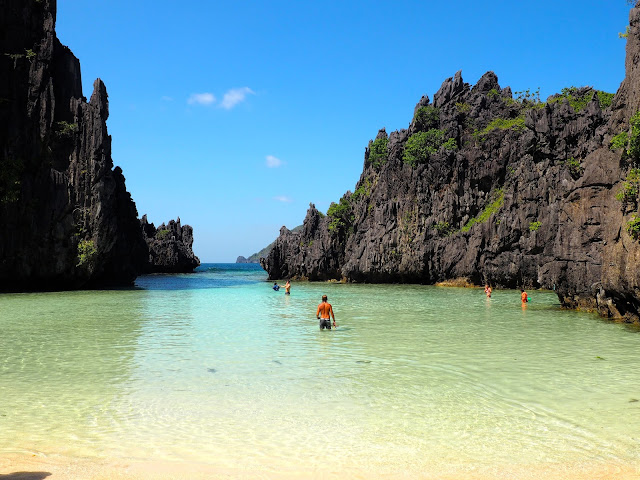 Secret Beach on Tour C around Bacuit Bay, El Nido, Palawan, Philippines