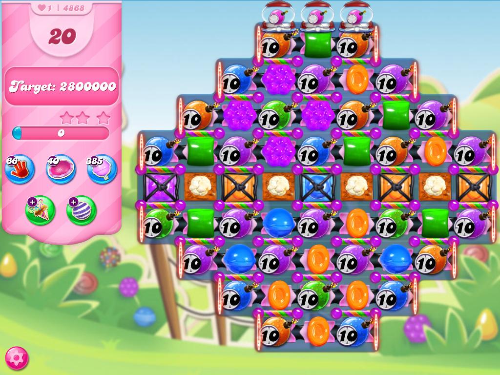 Candy Crush Saga level 4868