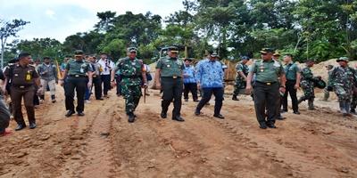 Tim Wasev Tinjau TMMD 104 Kodim 0319/Mentawai