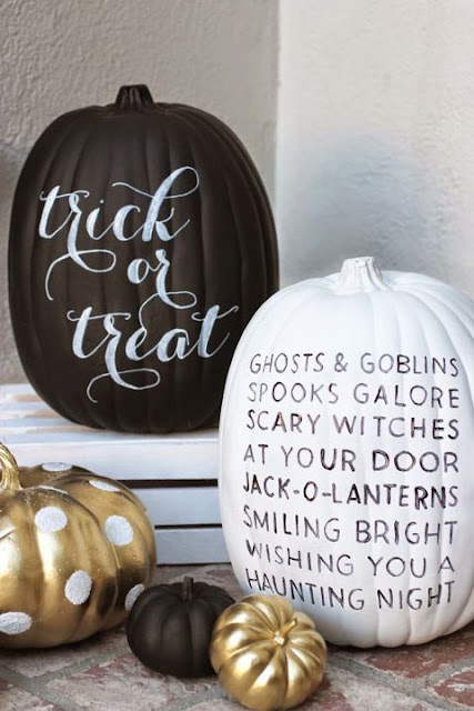 chalkboard paint for pumpkins