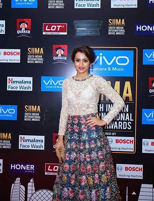 Actress Trisha Krishnan Photos At SIIMA Awards 2017