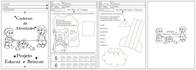 Caderno Projeto Educar e Brincar
