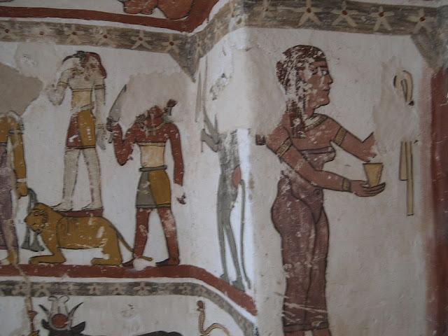 Paintings from the tomb of Petosiris at Muzawaka (XXXIII)