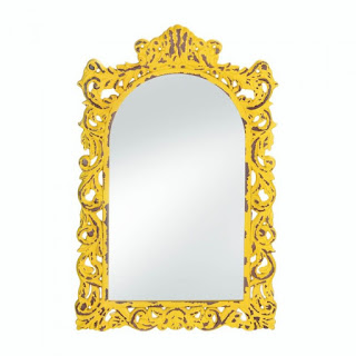 Opulant Distressed Yellow Wall Mirror - Giftspiration
