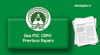 Goa PSC CDPO Previous Papers