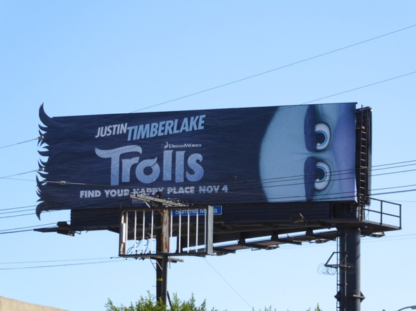 Trolls movie Branch special extension billboard