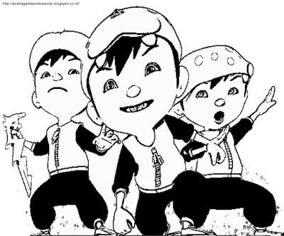 Gambar Mewarnai Boboi Boy3