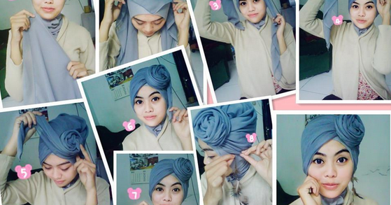 Cara Memakai Jilbab Turban Untuk Wajah Bulat Cantik - Caraberhijab ...