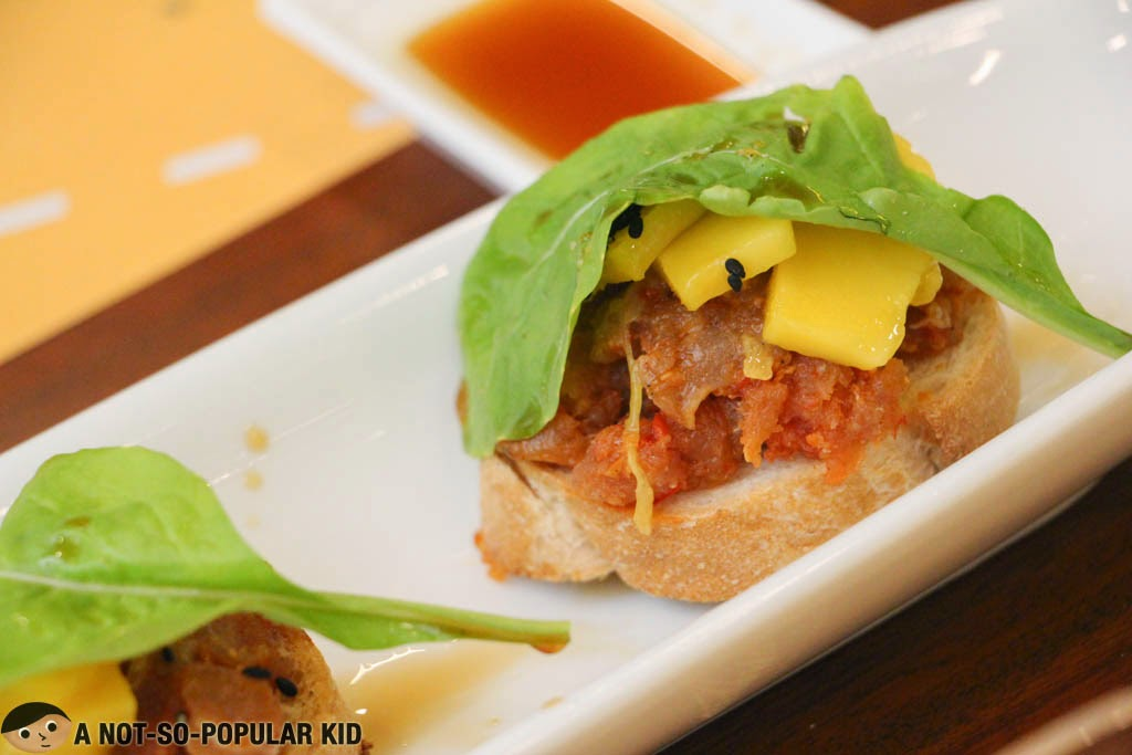 Torch's own version of the Spicy Tuna Tartare