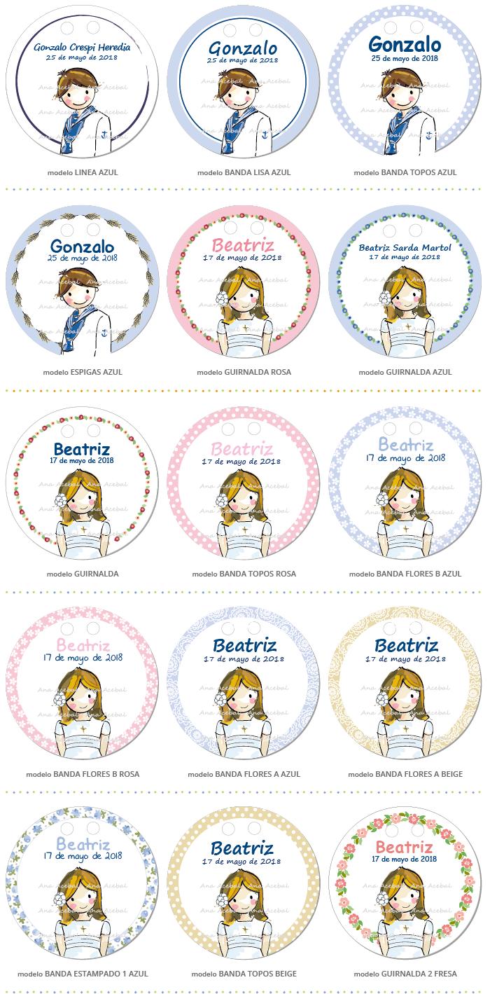 Etiquetas Comunión personalizadas niño