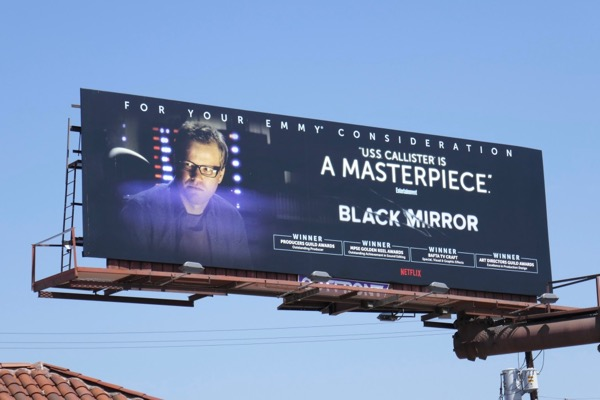 Black Mirror USS Callister 2018 Emmy billboard