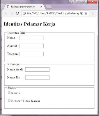 membuat form isian pada website