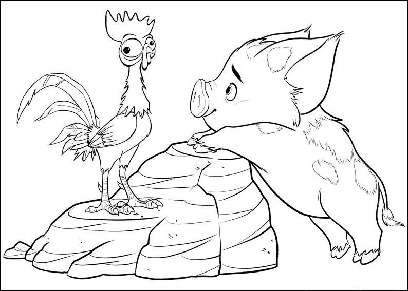 Jogo Desenhos de Moana, princesa Disney para colorir