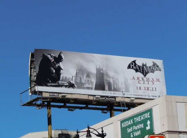 Batman Arkham City game billboard