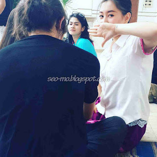 Foto Kathy Indera dan Hana Saraswati Syuting Anak Jalanan