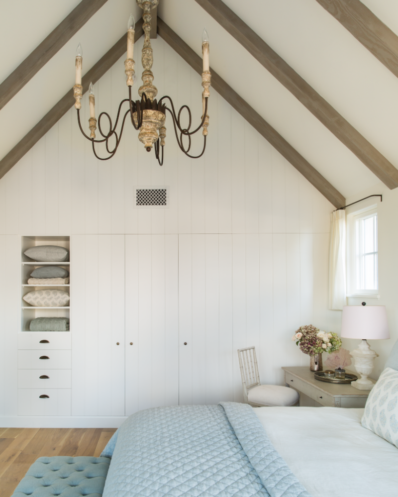 Breathtaking French Country modern farmhouse bedroom with built-ins by Giannetti Home - found on Hello Lovely Studio