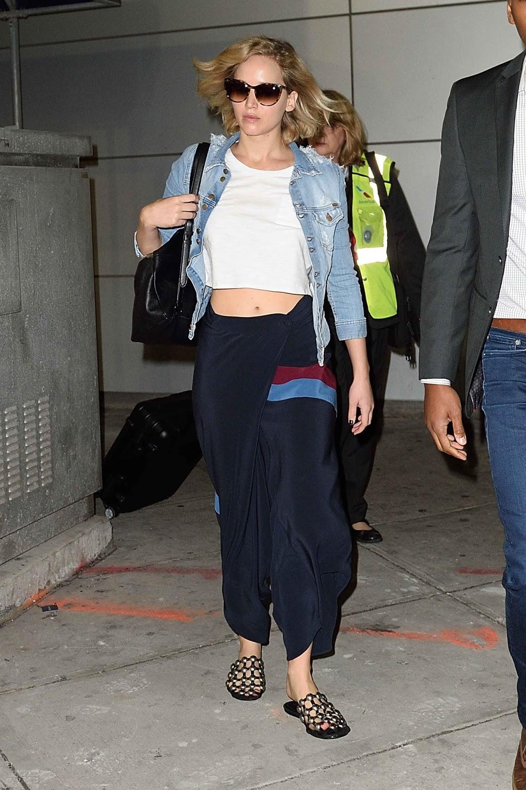 Jennifer Lawrence at JFK